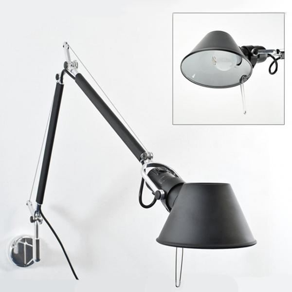 artemide tolomeo mini v gglampa svart gratis frakt. Black Bedroom Furniture Sets. Home Design Ideas