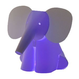 Zoolight Mini Elefant Barn Bordslampa